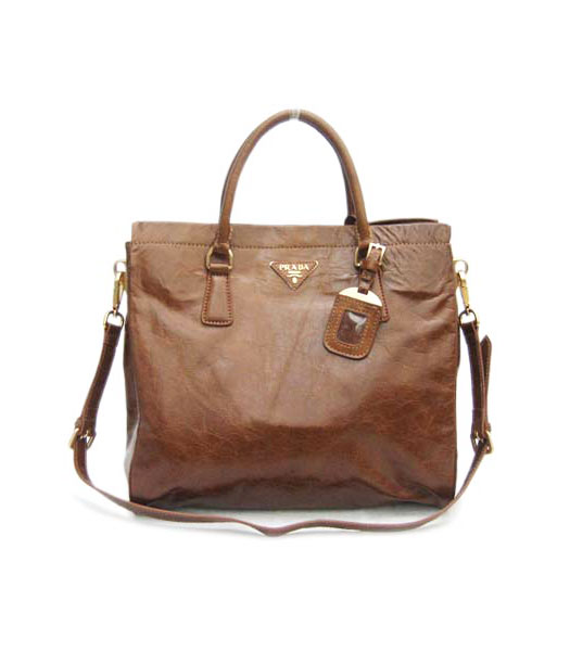 Prada Shoulder Tote Bag Coffee