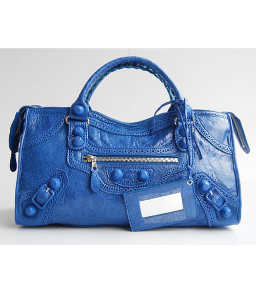 Balenciaga Oversized Covered Giant Part Time Bag Colorful Blue