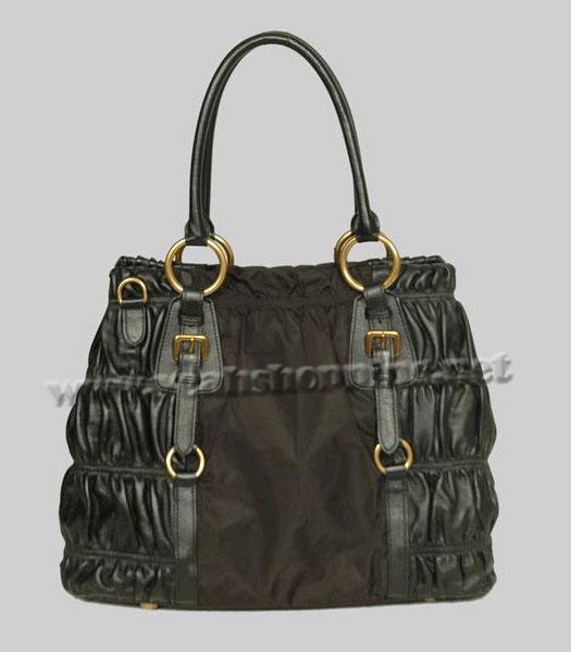 76e69ba70c7c ... best usa prada tote bag coffee fabric with black leather 2 ac24e de424  26e0a 4f194