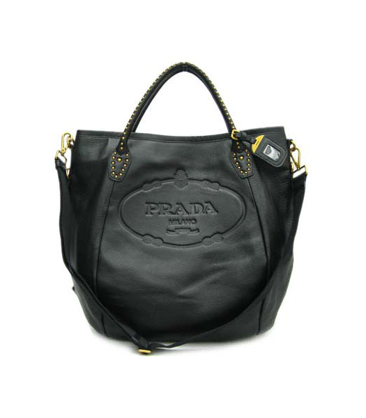 Prada Tote Handbag Black Leather_BR4426