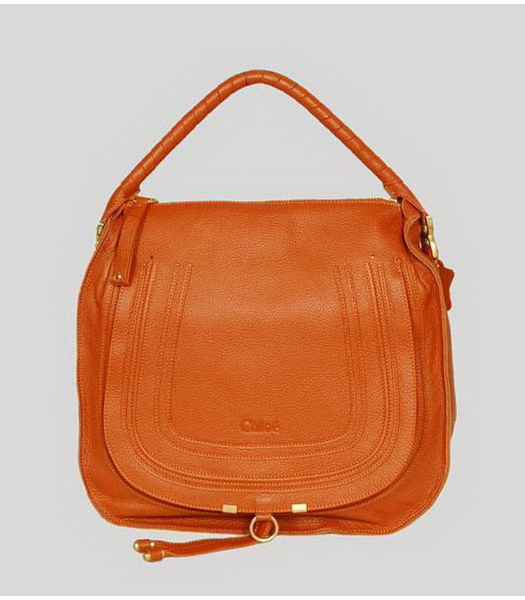 Chloe Marcie Hobo Bag Orange Calfskin