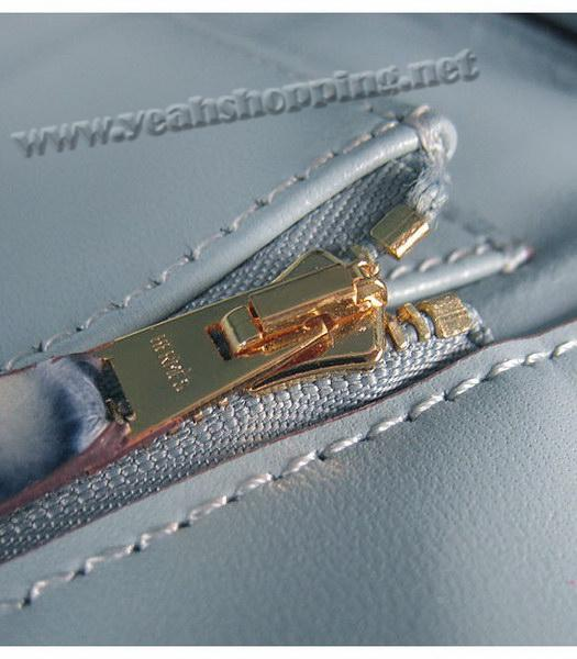Hermes Birkin 35cm Blue Fish Veins Leather Golden Metal-8