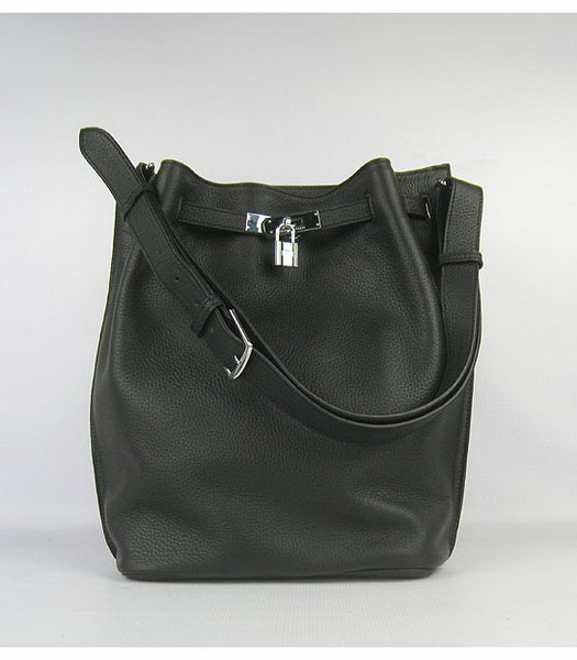 Hermes So Kelly Bag Black Togo Leather Silver Metal