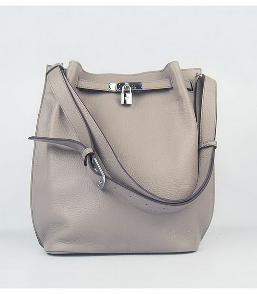 Hermes So Kelly Bag Grey Togo Leather Silver Metal