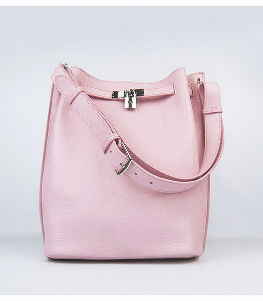 Hermes So Kelly Bag Pink Togo Leather Silver Metal
