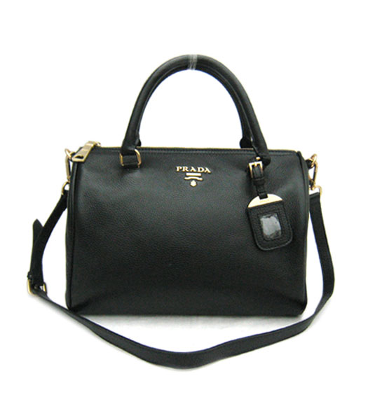 Prada Cowhide Leather Tote Bag in Black_BL0610