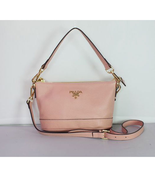 Prada Small Shoulder Bag in Pink Leather