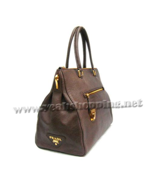 Prada Replica Cow Leather Tote Bag in Coffee_BR4288-2