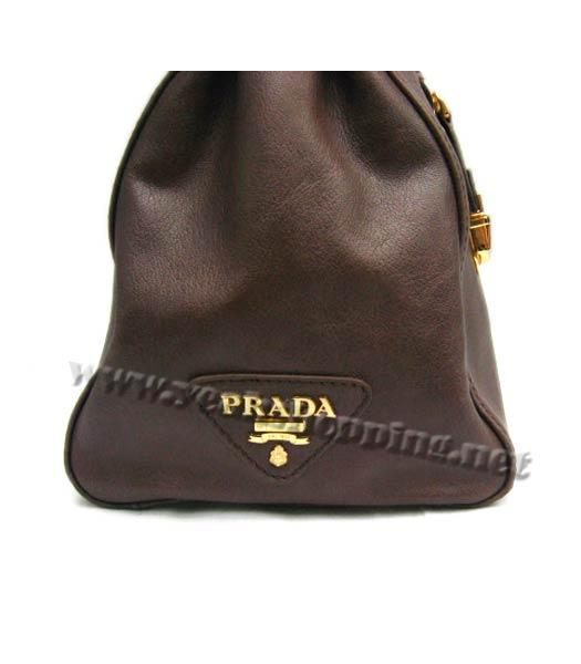 Prada Replica Cow Leather Tote Bag in Coffee_BR4288-5