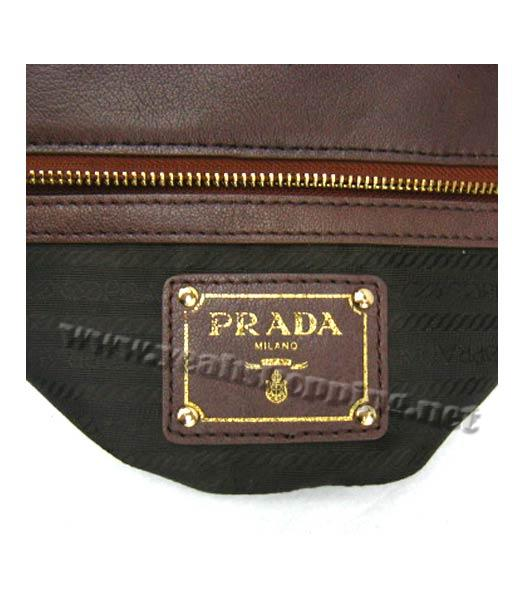 Prada Replica Cow Leather Tote Bag in Coffee_BR4288-7