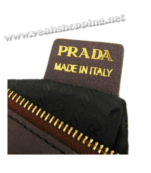 Prada Replica Cow Leather Tote Bag in Coffee_BR4288-8