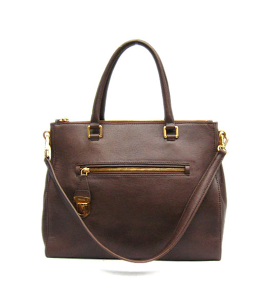 Prada Replica Cow Leather Tote Bag in Coffee_BR4288