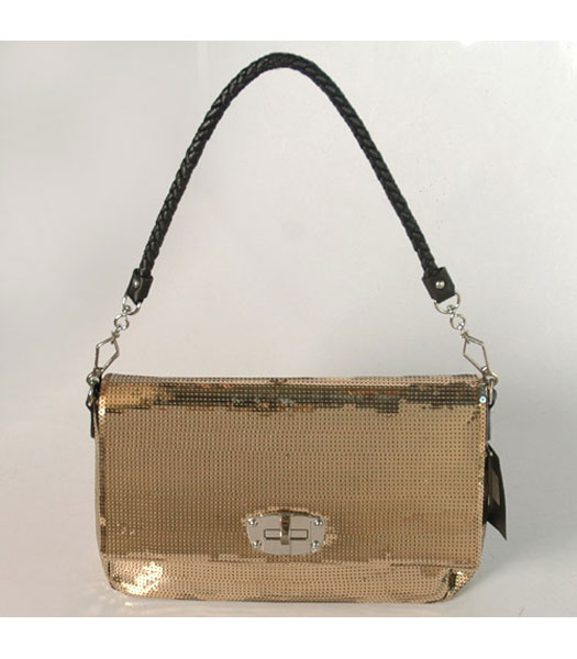 Miu Miu Sequin Convertible Bag in Golden