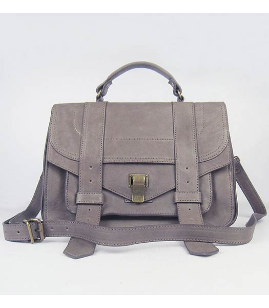 Proenza Schouler Suede PS1 Satchel Bag in Grey Lambskin - Replica ...