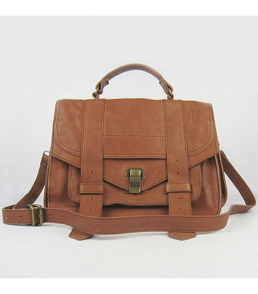 Proenza Schouler Suede PS1 Satchel Bag in Camel Lambskin
