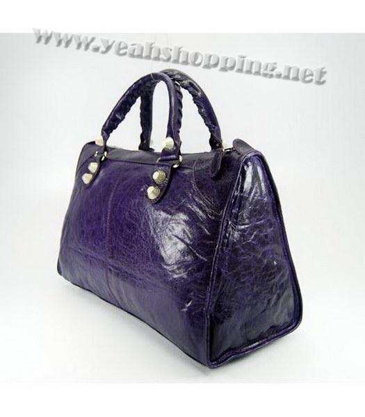 Balenciaga Oversized Balenciaga Giant City Lambskin Handbag in Dark Purple-2