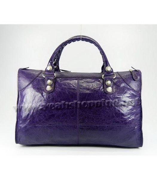 Balenciaga Oversized Balenciaga Giant City Lambskin Handbag in Dark Purple-3