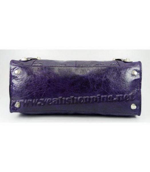 Balenciaga Oversized Balenciaga Giant City Lambskin Handbag in Dark Purple-4