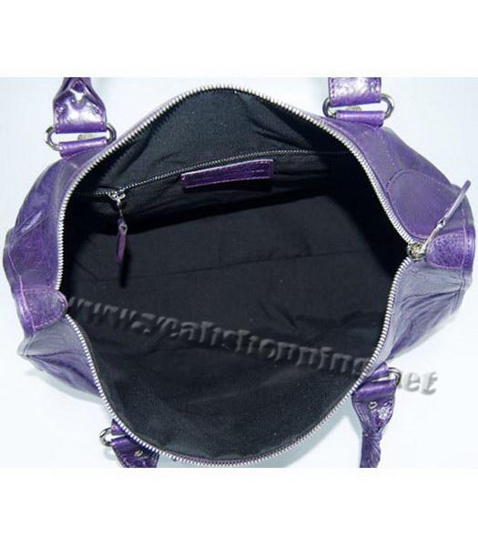 Balenciaga Oversized Balenciaga Giant City Lambskin Handbag in Dark Purple-5
