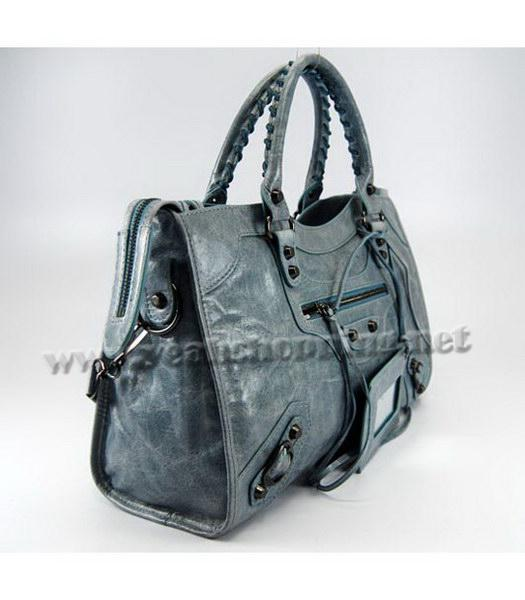 Balenciaga Giant City Bag in Light Blue Leather-1