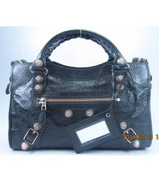 Balenciaga Giant City Handbag in Black Lambskin