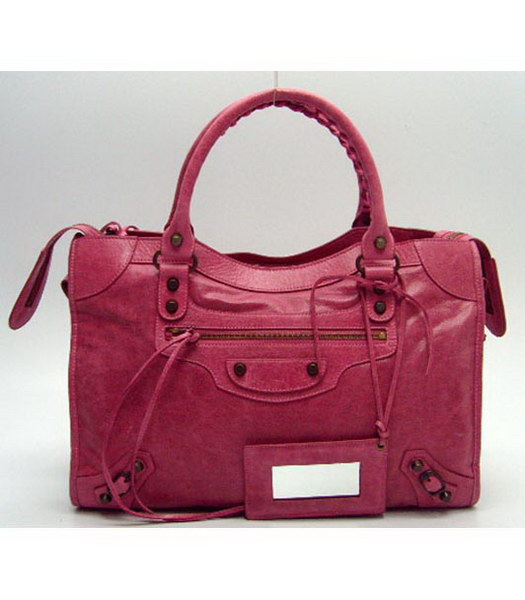 Balenciaga City Bag in Pink Leather
