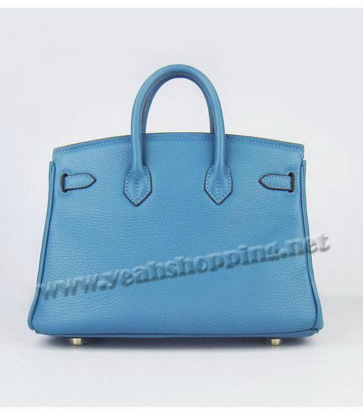 Hermes Birkin 25cm Middle Blue Togo Leather Golden Metal-2