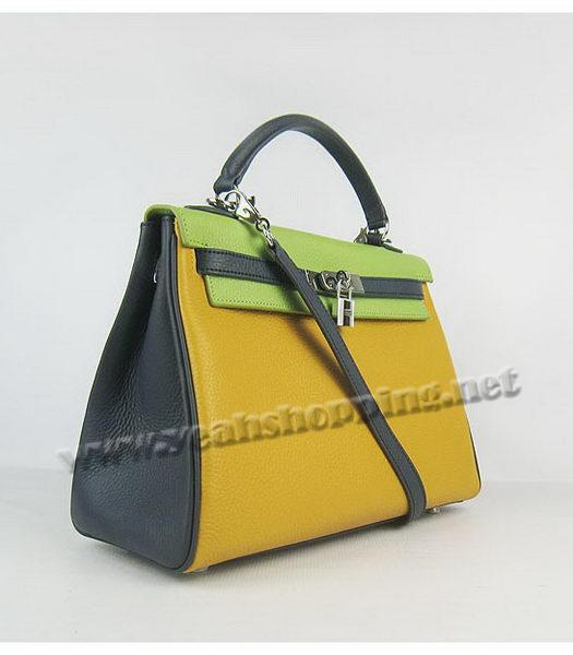 Hermes Kelly 32cm Three-color Togo Leather Silver Metal-1