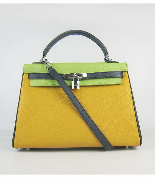Hermes Kelly 32cm Three-color Togo Leather Silver Metal