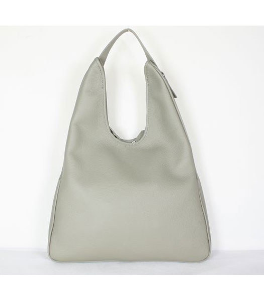 Hermes Massai Shoulder Bag Grey Togo Leather
