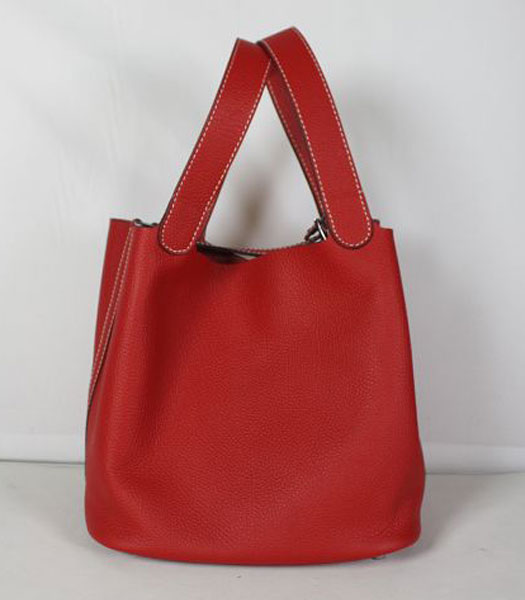 Hermes Small Picotin Lock Bag in Red