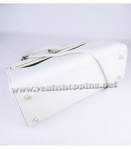 Hermes Kelly 35cm White Togo Leather Bag Silver Metal-3