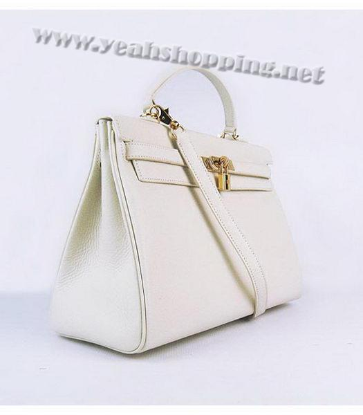 Hermes Kelly 35cm Offwhite Togo Leather Bag Golden Metal-1