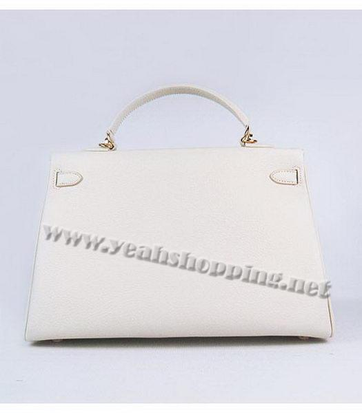 Hermes Kelly 35cm Offwhite Togo Leather Bag Golden Metal-2