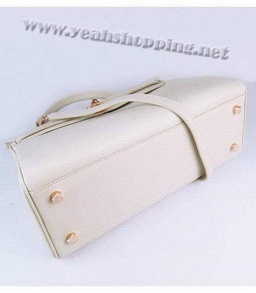 Hermes Kelly 35cm Offwhite Togo Leather Bag Golden Metal-3