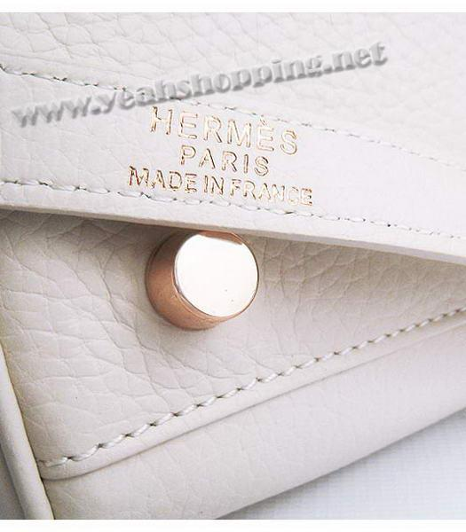 Hermes Kelly 35cm Offwhite Togo Leather Bag Golden Metal-8
