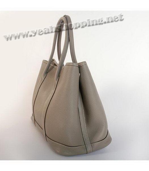 e93e6b73cf3c Hermes Garden Party Togo Leather Bag Dark Grey - Replica Handbags