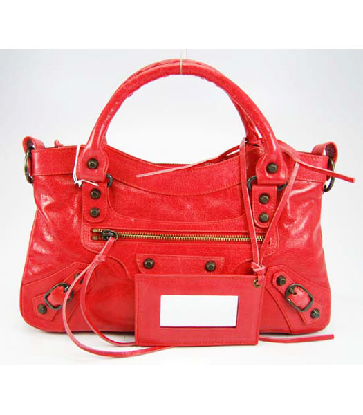 Balenciaga City Small Bag Light Red