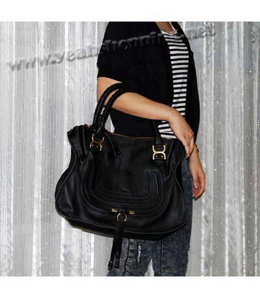 Chloe Marcie Large Shoulder Bag Black - Replica Handbags
