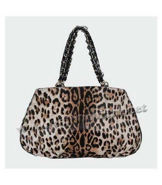 Fendi White Leopard Pattern Horsehair Tote Bag-2
