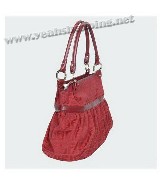 Fendi Chef Zucca Shopping Bag Red-1