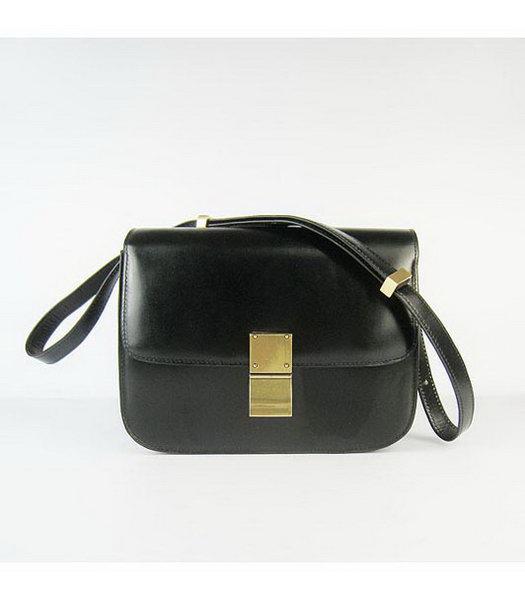 celine designer bag hmbl  Celine Calfskin Messenger Bag Black