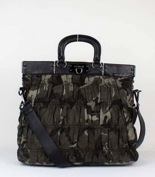 Prada Camouflage Canvas Tote Bag Army Green