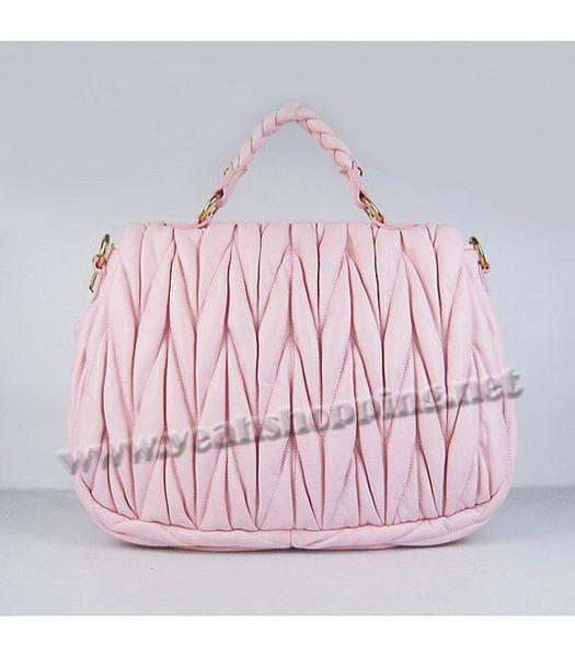 Miu Miu Quality Metalasse Medium Tote Bag in Pink-2