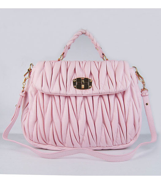 Miu Miu Quality Metalasse Medium Tote Bag in Pink