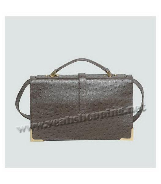 2e72d82e47 ... clearance fendi ostrich veins leather messenger bag dark grey 2 8dd7c  c1967