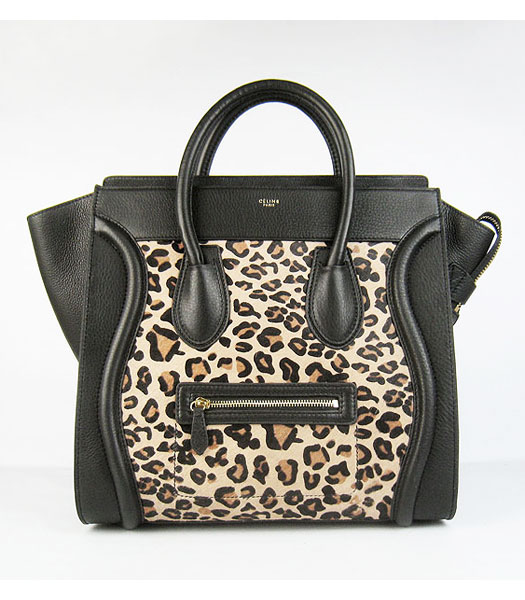 Celine New Fashion Pony Hair Tote Bag Black Calfsin