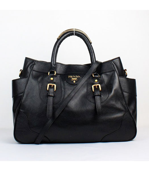 Prada Black Calfskin Tote Bag