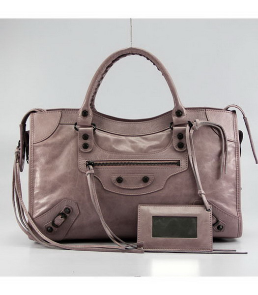 Balenciaga Motorcycle City Bag in Pink_Purple Oil