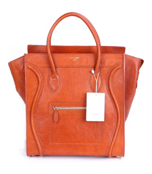 Celine 2011 Boston Smile Tote Bag Light Coffee Oil Leather